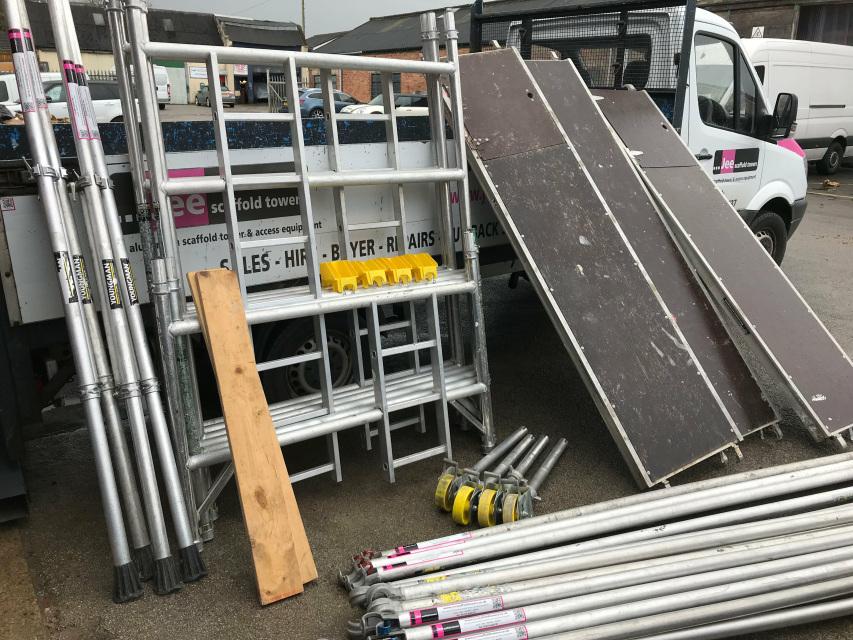 Double Width Used Boss Aluminium Scaffold Tower Sales